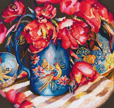Название по-английски:    Oriental tulips¶Название по-русски:    Тюльпаны Востока¶Размер кадра, см: