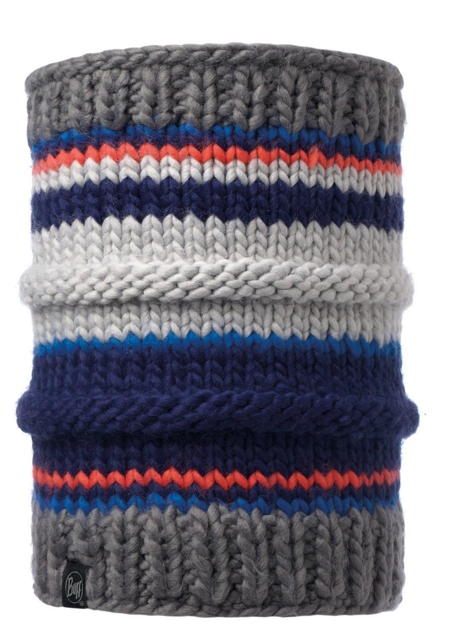 Вязаный шарф-труба с флисовой подкладкой Buff Dorian Blue Ink