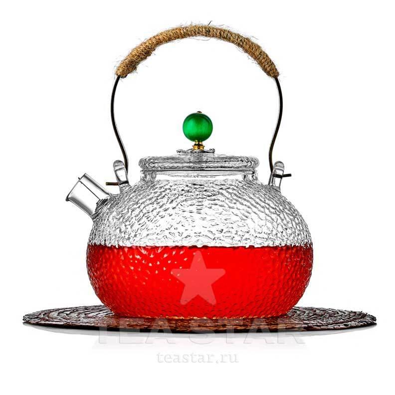 """Оригинальные Чайник заварочный """"Плутон"""" 600 мл, стеклянный из рельефного стекла chaynik_zavarochniy_steklyanniy_1-018-600-teastar.jpg"""