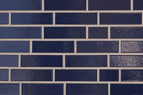 ABC - глазурованная, Dunkelblau 350, 240х71х10, NF - Клинкерная плитка для фасада и внутренней отделки