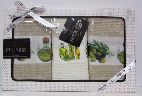 Набор салфеток для кухни  OLIVE 2  ОЛИВЕ 2  в размере 45х70  Maison Dor  Турция