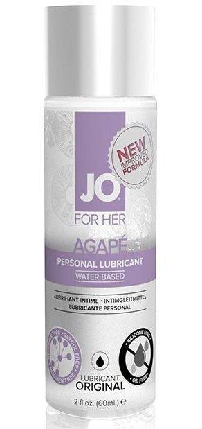 На водной основе: Лубрикант на водной основе для женщин JO AGAPE LUBRICANT ORIGINAL - 60 мл.
