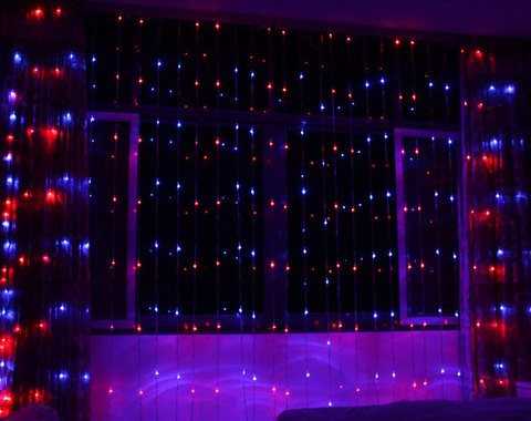 Гирлянда водопад светодиодная гирлянда LED мультик