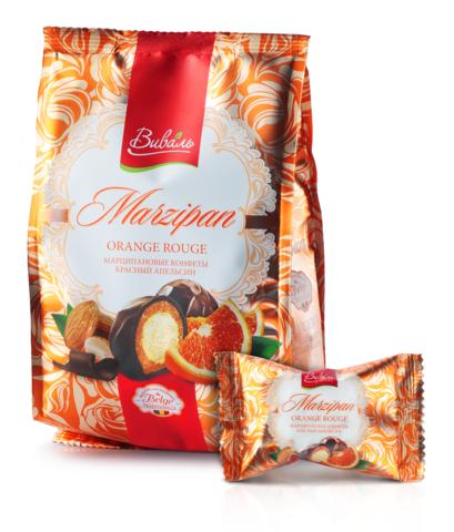 ВИВАЛЬ Марципановые конфеты красный апельсин 140г