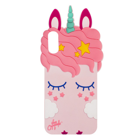 Чехол для IPhone X Unicorn Pink