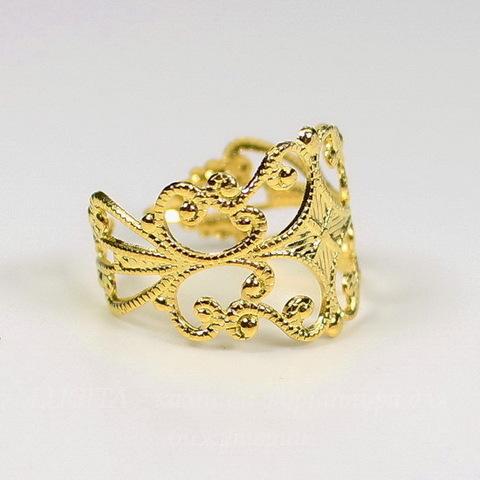 Основа для кольца с филигранью (цвет - золото)