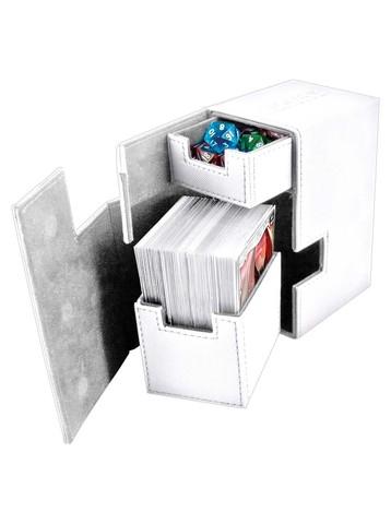 Ultimate Guard - Кожаная белая коробочка с отделением для кубиков