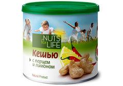 Кешью с перцем и лимоном Nuts for Life, 115г