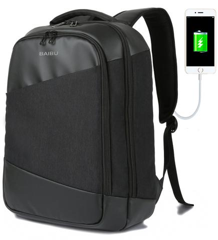 Рюкзак BAIBU 1919 USB Черный
