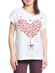 37662-3-2 футболка женская, белая