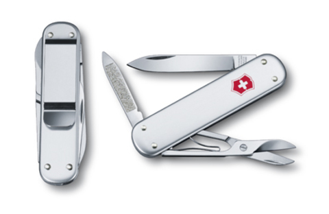 Швейцарский нож Victorinox Money clip, 74 мм, 5 функ, серебристый  (0.6540.16)