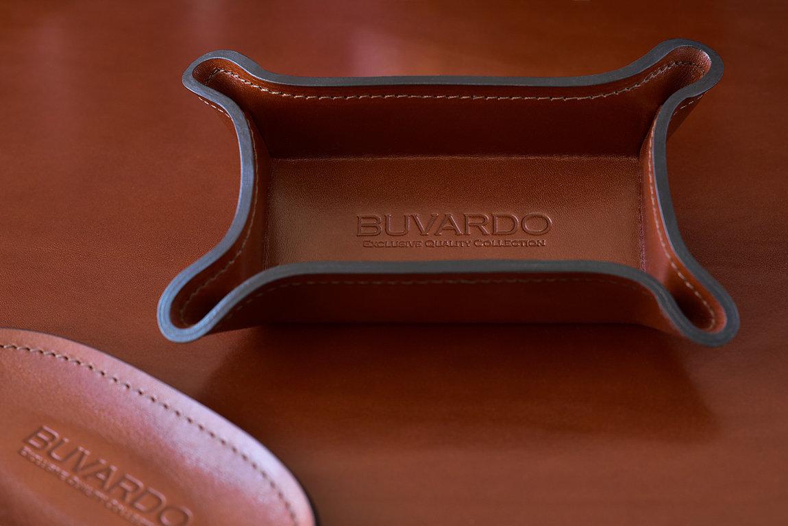 Лоток малый BUVARDO LUX из кожи Full Grain Toscana Tan