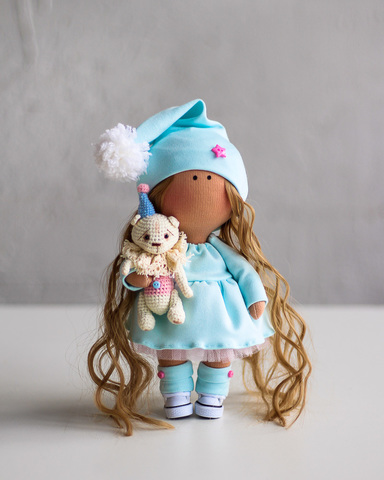 Лялька Гвен та ведмедик Гектор. Колекція La Petite.