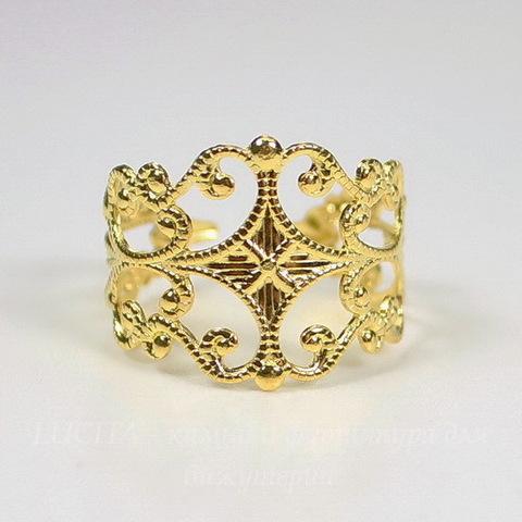 Основа для кольца филигранная (цвет - золото)