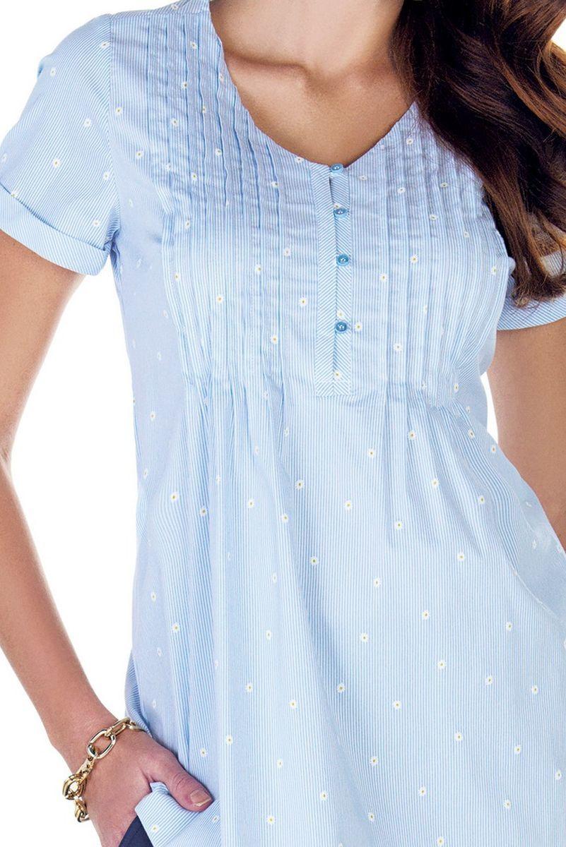 Блузка 09421 цветочный принт