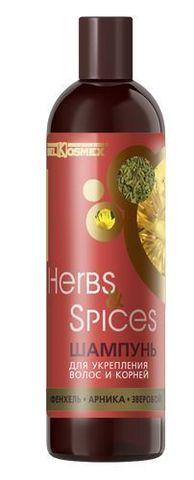 BelKosmex Herbs&Spices Шампунь для УКРЕПЛЕНИЯ волос и корней 500г