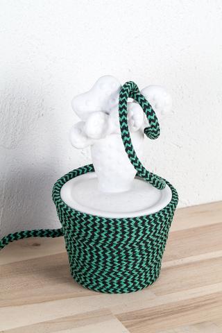 Хлопковый плетеный шнур, меланж 5 мм