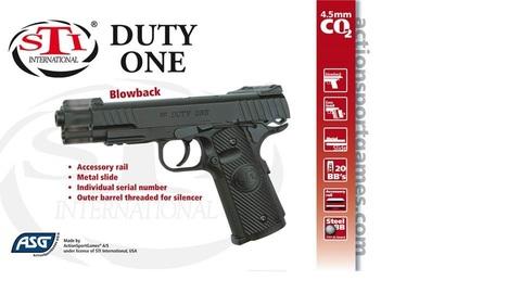STI DUTY ONE пистолет пневматический, металл, пластик, blowback подвижная рама