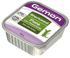 Gemon Sterilized Cat консервы для стерилизованных кошек паштет индейка 100гр.