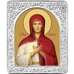 Святая Раиса (Ираида). Маленькая икона в серебряной раме.