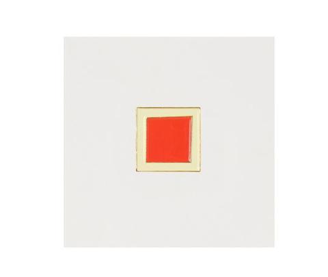 Значок металлический Красный квадрат
