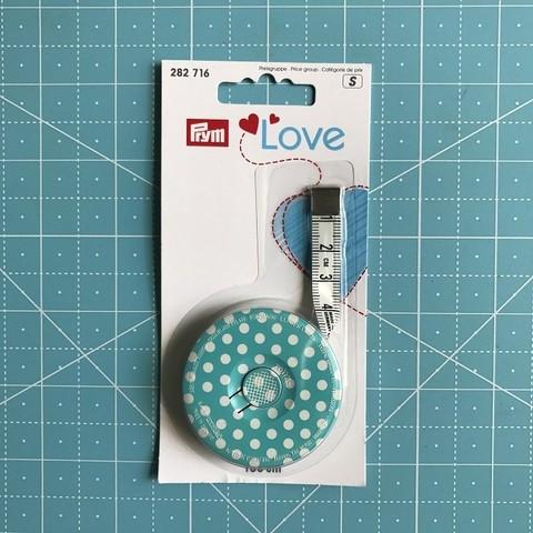 Рулетка портновская  с сантиметровой шкалой 150 мм. Prym Love (Арт. 282716)