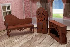 ЯиГрушка Гостиная (диван, камин, часы)(коричневый) арт. 59412