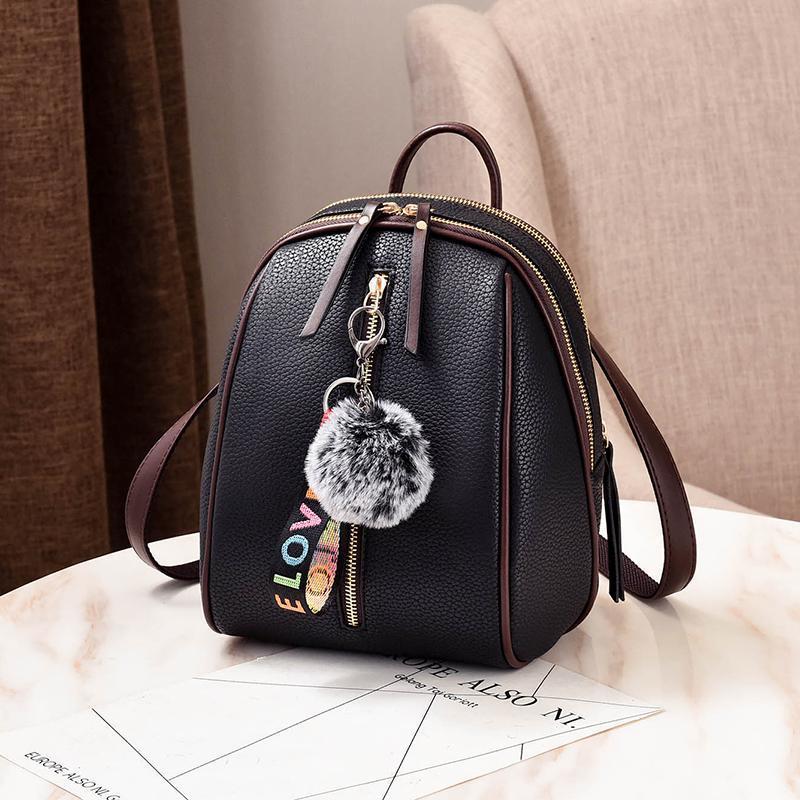 Женский маленький рюкзакок 18х24х12 см чёрный 4378-1