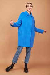 Пальто-кокон с отложным воротником