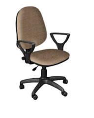 Кресло ПРЕСТЕЙН ткань светло-коричневая