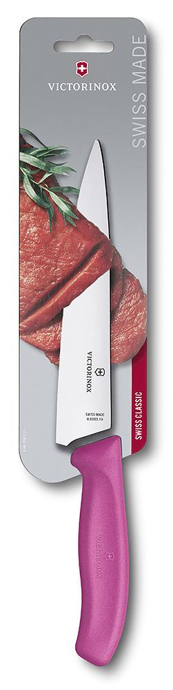 Нож Victorinox разделочный, розовый (6.8006.19L5B)