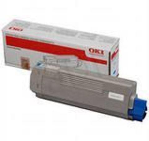 OKI C610 тонер-картридж cyan голубой (44315323, 44315307 ) ресурс 6000 копий.