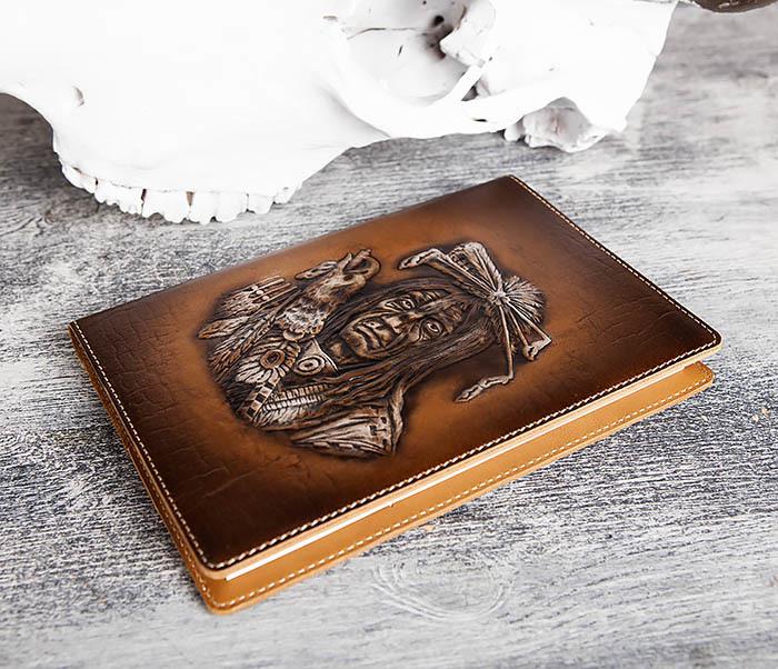 BY05-18-03 Подарочный ежедневник в кожаной обложке «Дикий Запад» (A5) фото 05