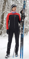 Женский утеплённый лыжный костюм Nordski Active Red-Black 2020