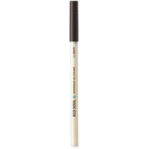 THE SAEM EYE Карандаш для глаз водост. гелевый 13 Eco Soul Waterproof Gel eyeliner 13 Dark Coffee Brown 0.5гр