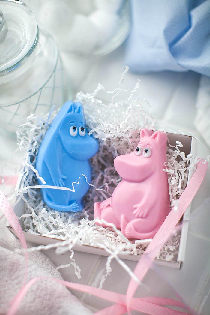 Пластиковая форма для мыла ручной работы с Мумми троллями