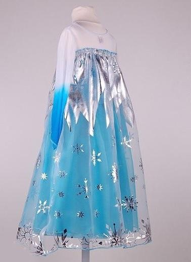 Холодное сердце платье Эльзы голубое