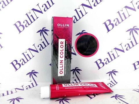 OLLIN COLOR 2/0 черный 60мл Перманентная крем-краска для волос