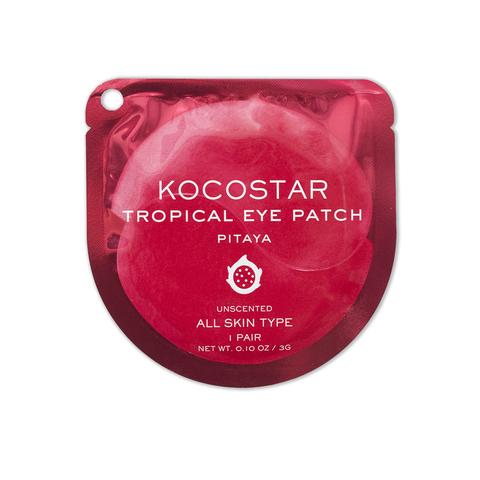KOCOSTAR | Гидрогелевые патчи для глаз Тропические фрукты (2 патча/1 пара) (Питахайя), (3 г)