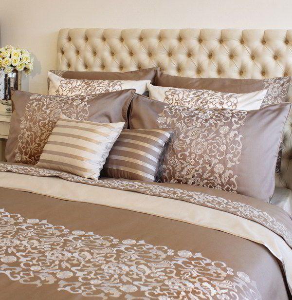Постельное Постельное белье 2 спальное евро Bovi Bella коричневое komplekt-postelnogo-belya-bella-nuar-bovi-portugaliya.jpeg