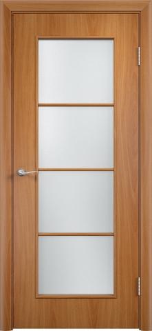Дверь Верда С-8, цвет миланский орех, остекленная