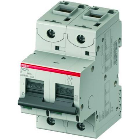 Автоматический выключатель 2-полюсный 100 А, тип B, 15 кА S802C B100. ABB. 2CCS882001R0825