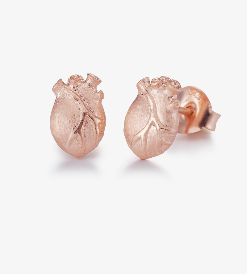 Серьги Anatomic Heart Medium Rose Gold