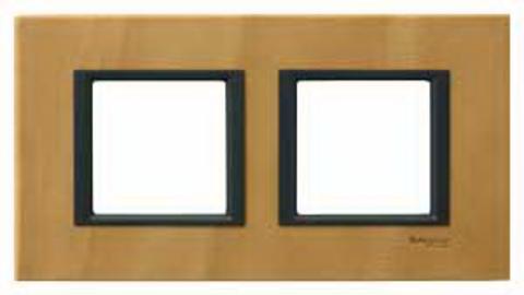 Рамка на 2 поста. Цвет Светлая кожа. Schneider electric Unica Class. MGU68.004.7P1