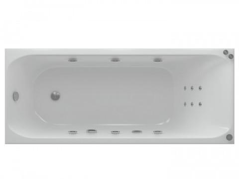 Ванна акриловая прямоугольная АЛЬФА 170х70 AQUATEK (с каркасом и фронтальной панелью)