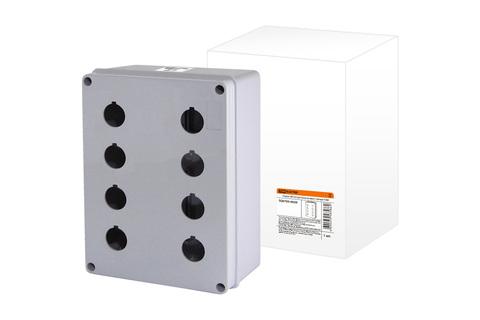 Корпус КП204 для кнопок 8мест белый TDM