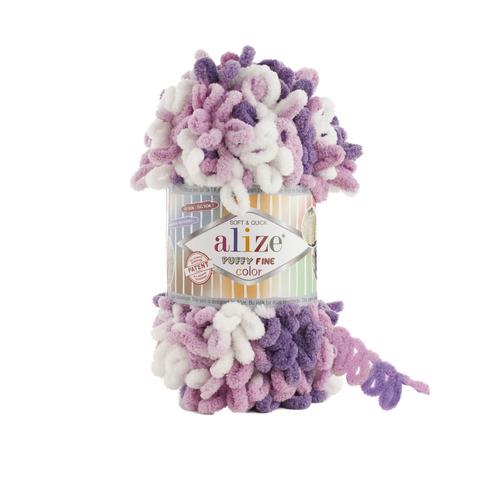 Купить Пряжа Ализе Пуффи Файн Колор Код цвета 6067 | Интернет-магазин пряжи «Пряха»