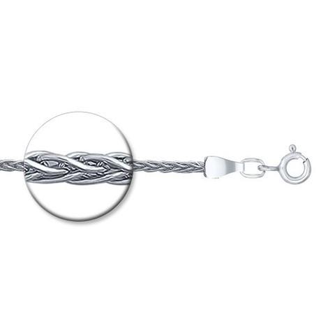 968410450 -Цепь из серебра  плетения колос от SOKOLOV