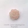 "Бусина Кварц, ""Цветок"", цвет - розовый, 18х6,5 мм"