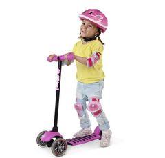 Самокат детский от 3 лет Yvolution Glider Deluxe розовый